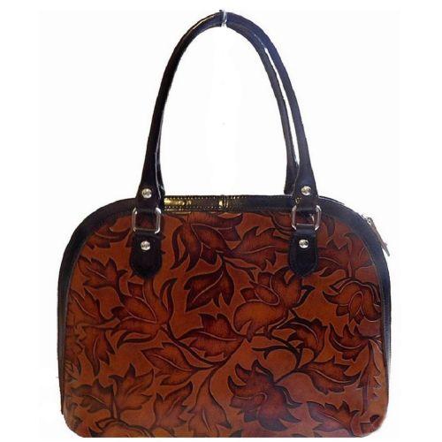Женская кожаная сумка BC213 коричневая