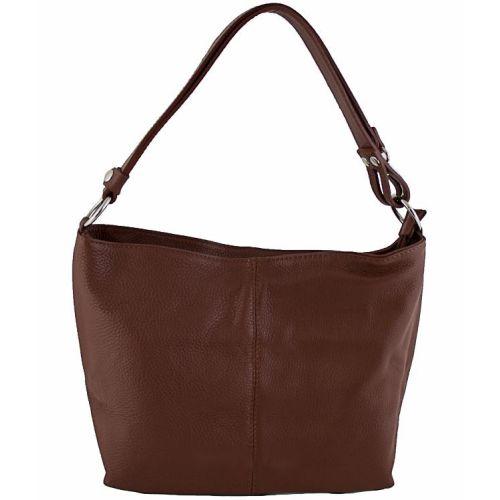 Женская кожаная сумка BC214 коричневая