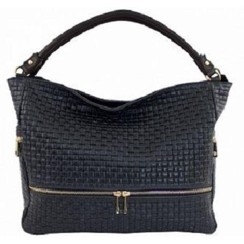 Женская кожаная сумка BC215 черная