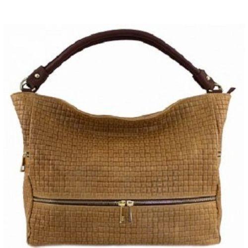 Женская кожаная сумка BC215 рыжая