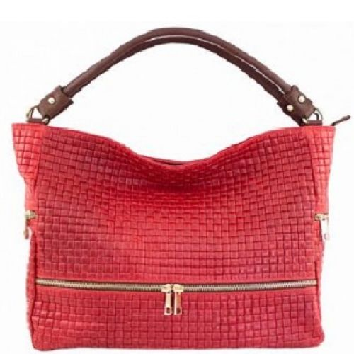 Женская кожаная сумка BC215 красная