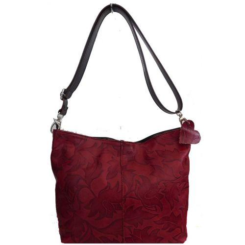 Женская кожаная сумка BC216 красная