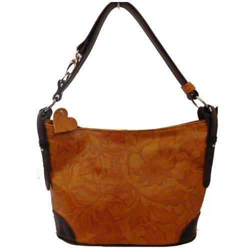 Женская кожаная сумка BC217 рыжая