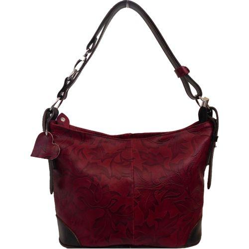 Женская кожаная сумка BC217 красная