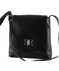 Кожаная сумка унисекс BC219 черная