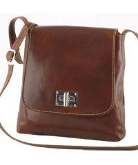 Кожаная сумка унисекс BC219 коричневая