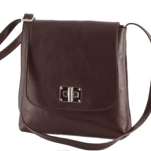 Кожаная сумка унисекс BC219 шоколадная