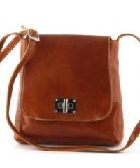 Кожаная сумка унисекс BC219 рыжая