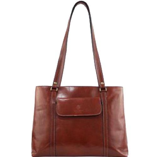 Женская кожаная сумка BC224 коричневая