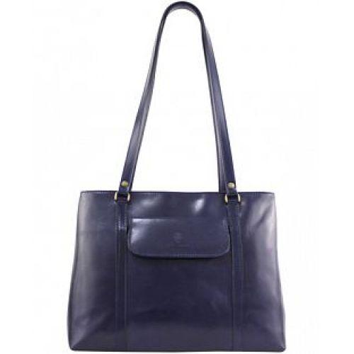 Женская кожаная сумка BC224 синяя