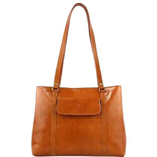 Женская кожаная сумка BC224 рыжая