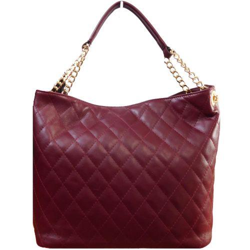Женская кожаная сумка BC225 бордовая