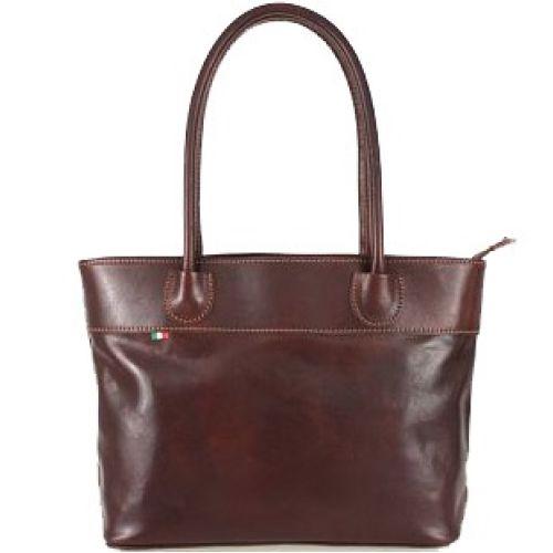 Женская кожаная сумка BC228 коричневая