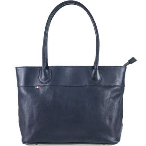 Женская кожаная сумка BC228 темно-синяя
