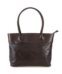 Женская кожаная сумка BC228 темно-коричневая