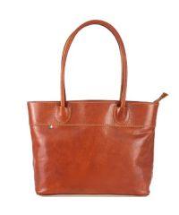 Женская кожаная сумка BC228 рыжая