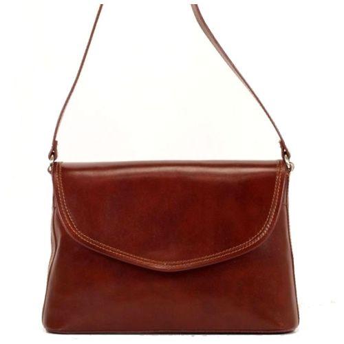 Женская кожаная сумка BC301 коричневая