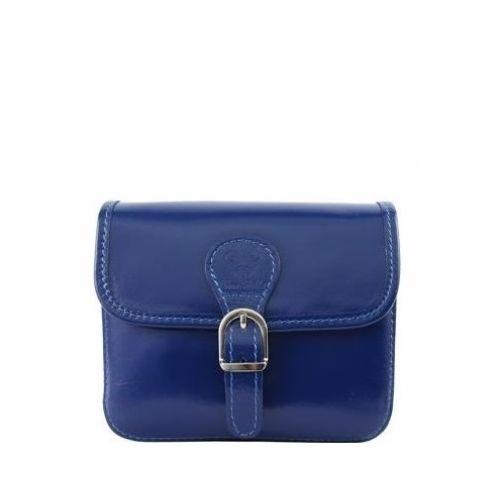 Женская кожаная сумочка BC302 синяя