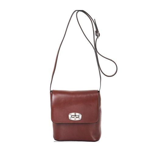 Женская кожаная сумка BC306 коричневая
