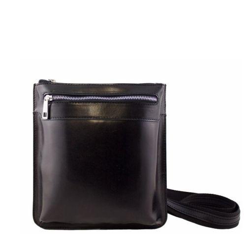 Кожаная сумка унисекс BC307 черная