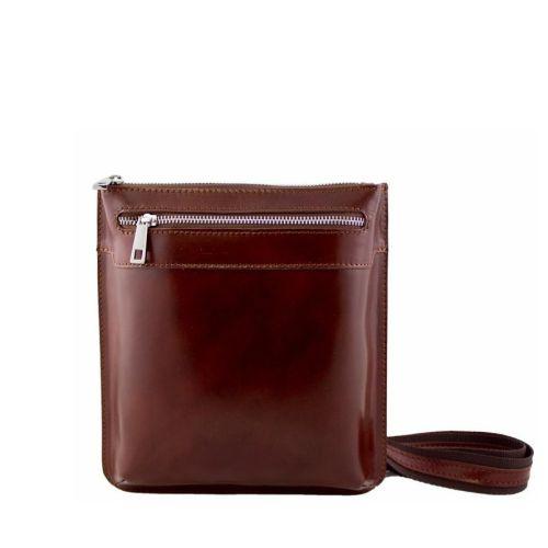 Кожаная сумка унисекс BC307 коричневая