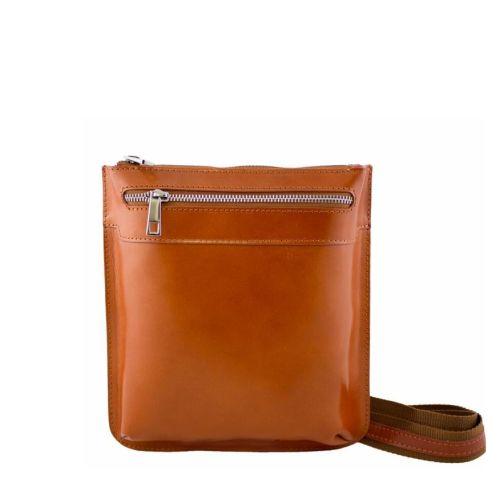 Кожаная сумка унисекс BC307 рыжая