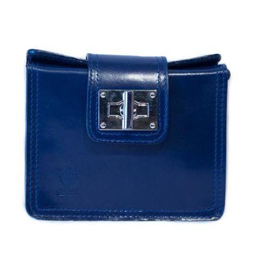 Женская кожаная сумочка BC310 синяя