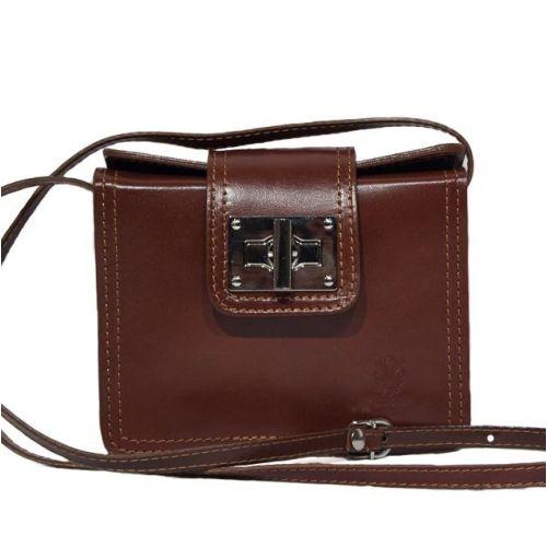 Женская кожаная сумочка BC310 коричневая