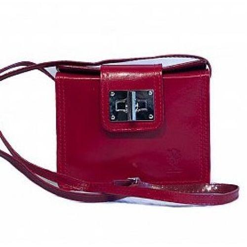 Женская кожаная сумочка BC310 красная
