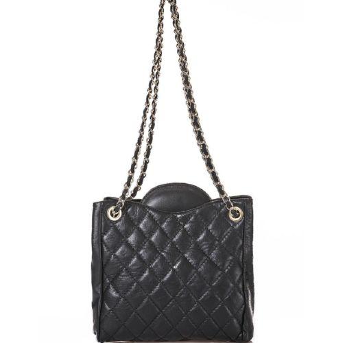 Женская кожаная сумка BC312 черная