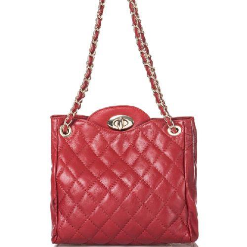 Женская кожаная сумка BC312 красная