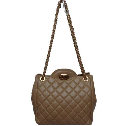 Женская кожаная сумка BC312 бежевая