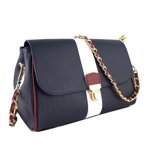 Женская кожаная сумка BC316 синяя