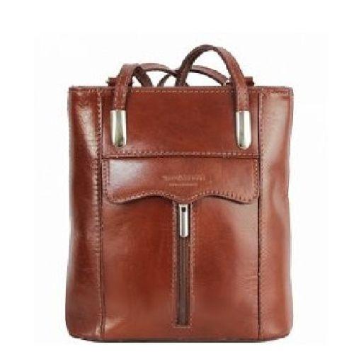 Женская кожаная сумка BC317 коричневая