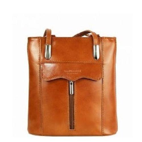 Женская кожаная сумка BC317 рыжая