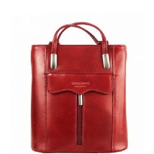 Женская кожаная сумка BC317 красная