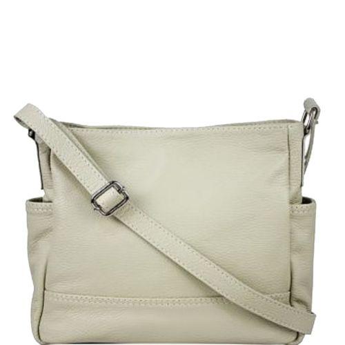 Женская кожаная сумка BC318 бежевая