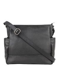 Женская кожаная сумка BC318 черная