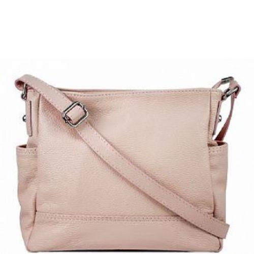 Женская кожаная сумка BC318 розовая