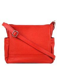 Женская кожаная сумка BC318 красная
