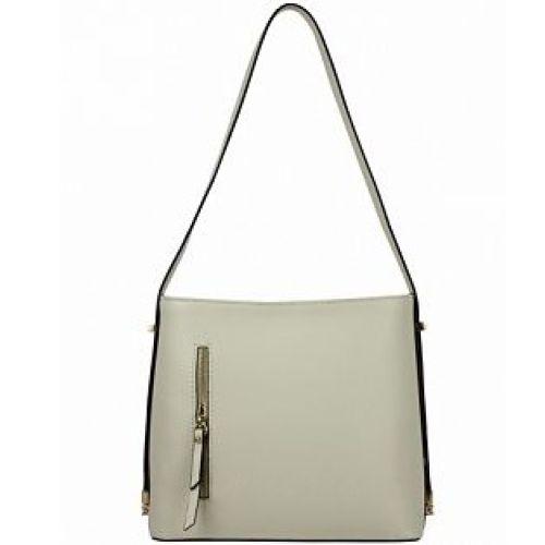 Женская кожаная сумка BC319 бежевая