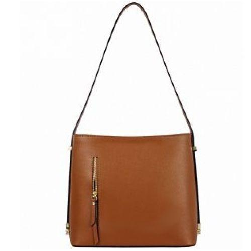 Женская кожаная сумка BC319 рыжая