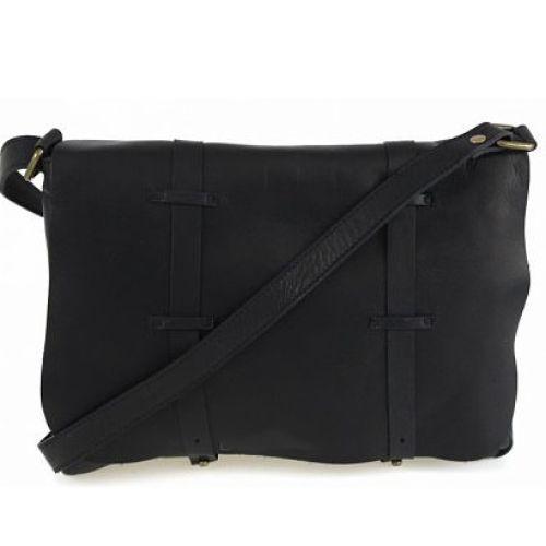 Женская кожаная сумка BC321 черная