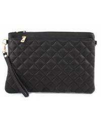Женская кожаная сумка клатч BC503 черная