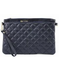 Женская кожаная сумка клатч BC503 синяя