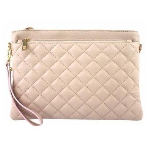 Женская кожаная сумка клатч BC503 розовая