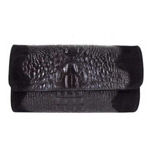 Женская кожаная сумка клатч BC504 черная