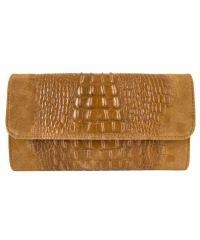 Женская кожаная сумка клатч BC504 рыжая