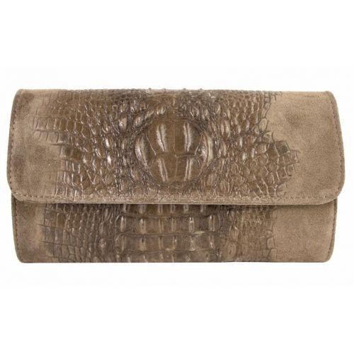 Женская кожаная сумка клатч BC504 бежевая