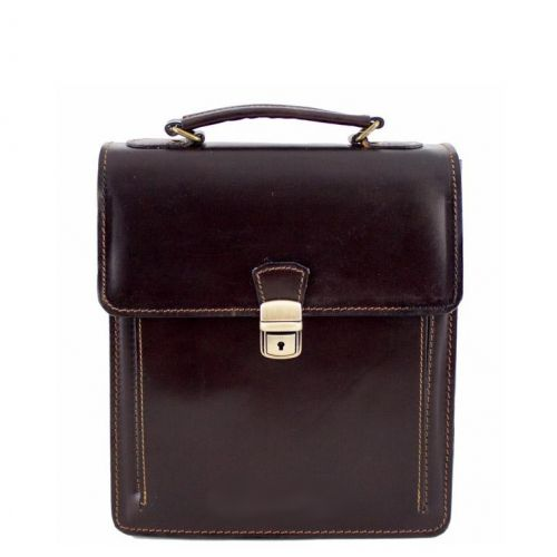 Кожаная сумка унисекс BC601 шоколадная